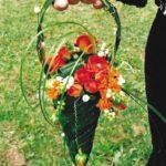 Bouquet de mariée cône