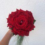 Bouquet de mariée, rose reconstituée